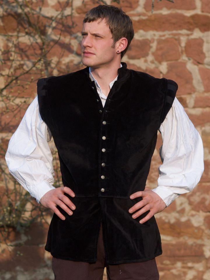 Veston médiéval Ludwig, noir