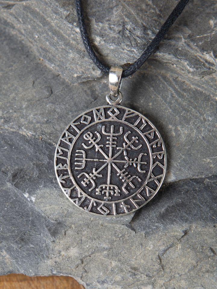 Pendentif boussole Viking en argent