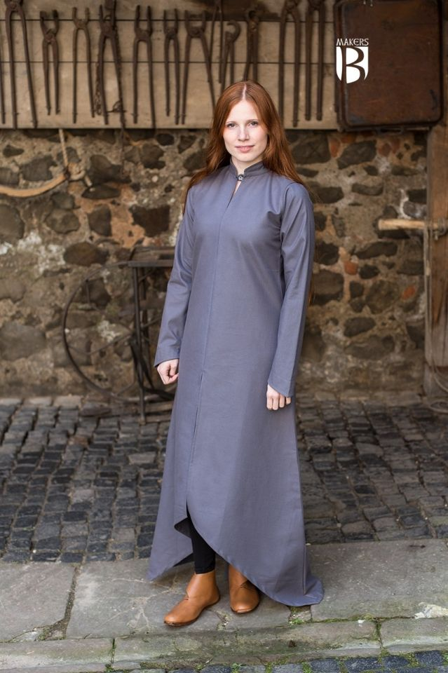 Longue robe Ranwen en gris XL