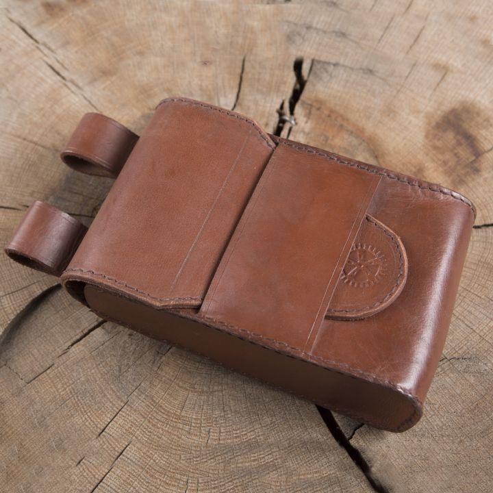 Grande sacoche de ceinture en cuir
