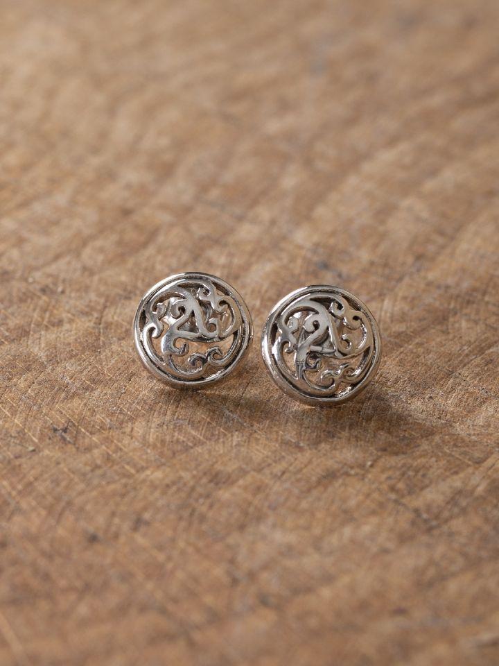 Boucles d'oreille celtiques à spirale Triskele