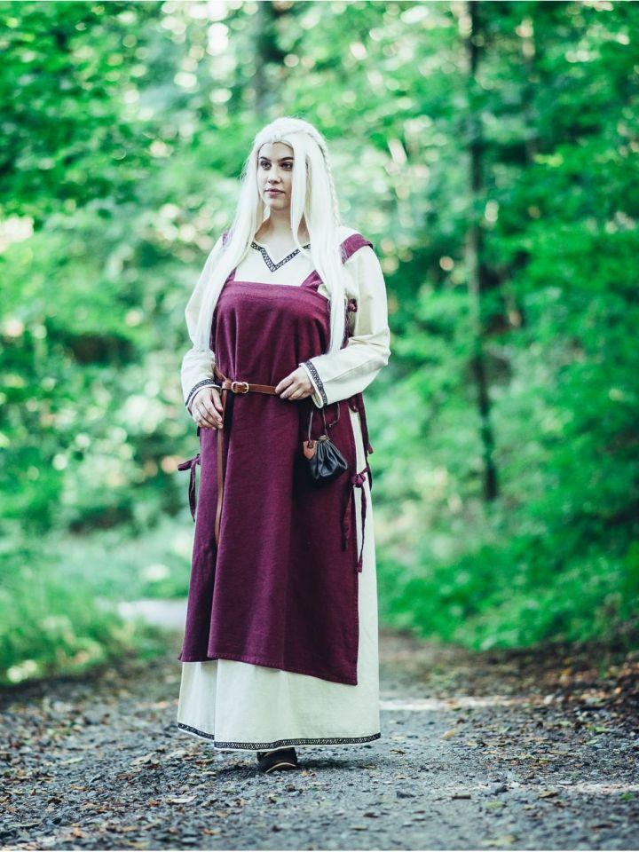 Tunique Viking, en rouge