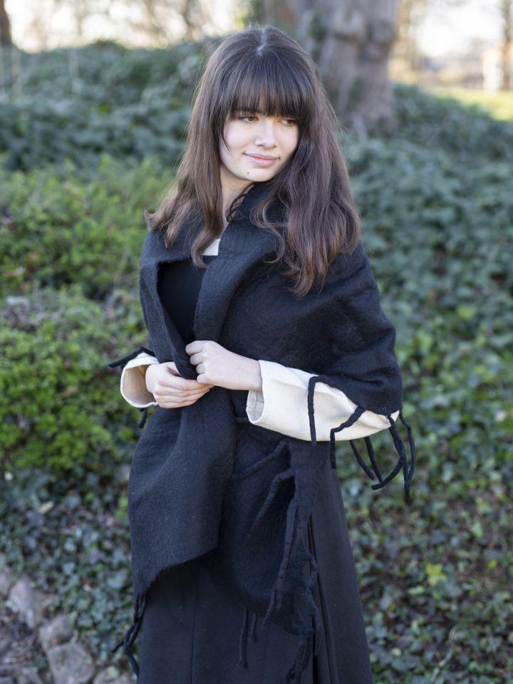 Grande écharpe noire