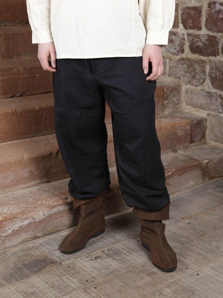Pantalon médiéval en coton, avec poches noir S | noir