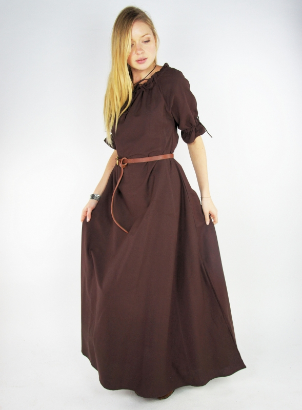 Robe Brida marron