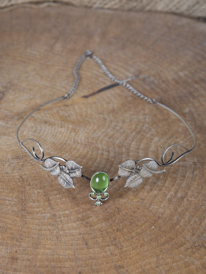Couronne tiare avec perles vert clair
