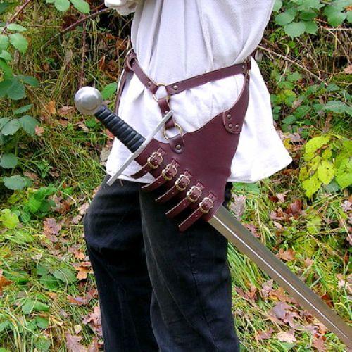 Sangle de maintien pour rapière ou épée marron