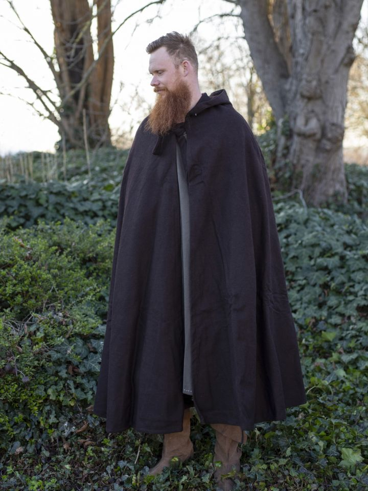 Cape en laine en marron
