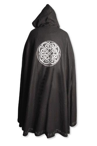 Cape en laine à motifs celtiques unisexe