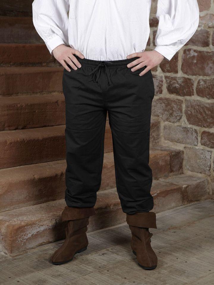 Pantalon médiéval noir S