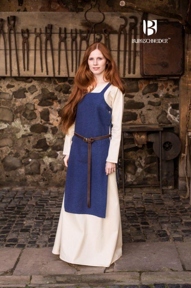 Robe tablier Gyda en bleu