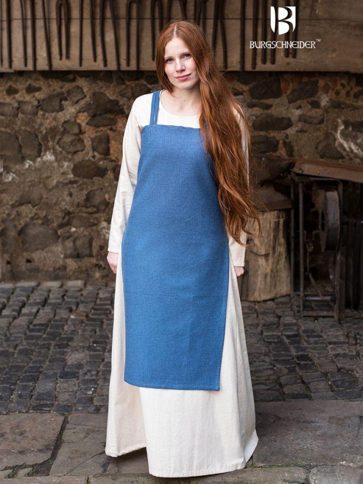 Robe Viking Frida en bleu cyan XL