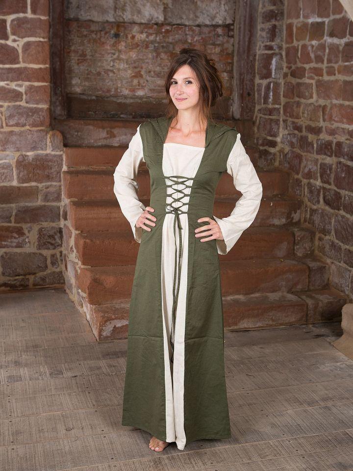 Robe médiévale à capuche