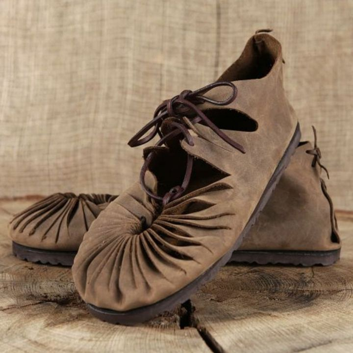 Ballerines médiévales en cuir avec semelle 43 | marron