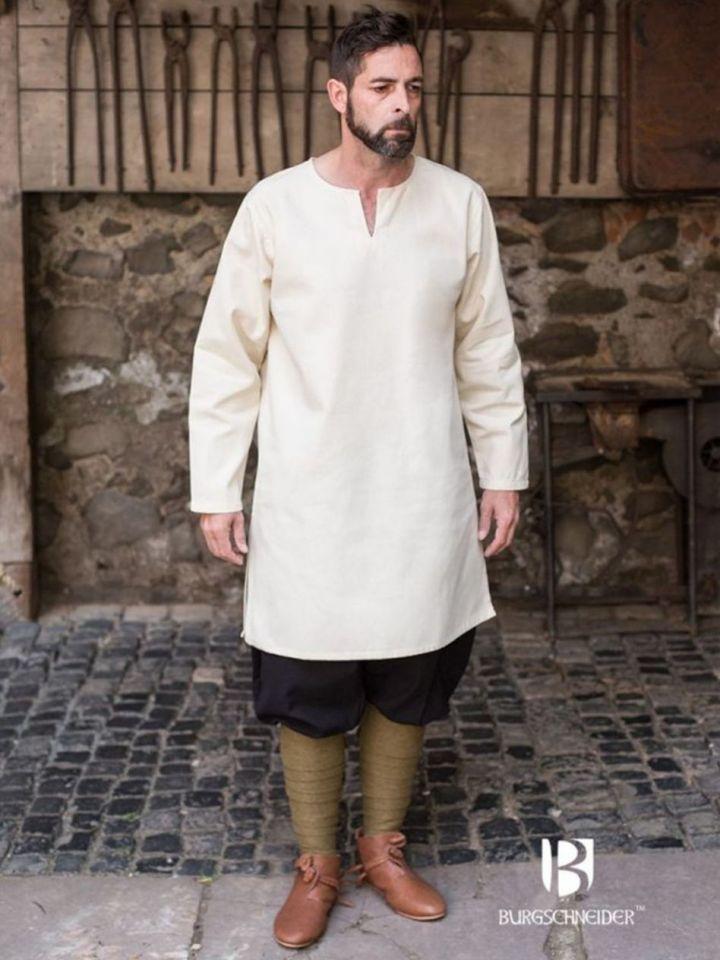 Tunique en coton peigné, blanc-écru L