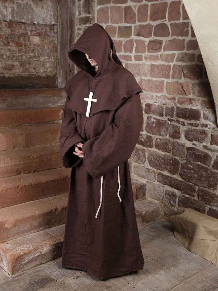 Habit de moine marron | avec croix