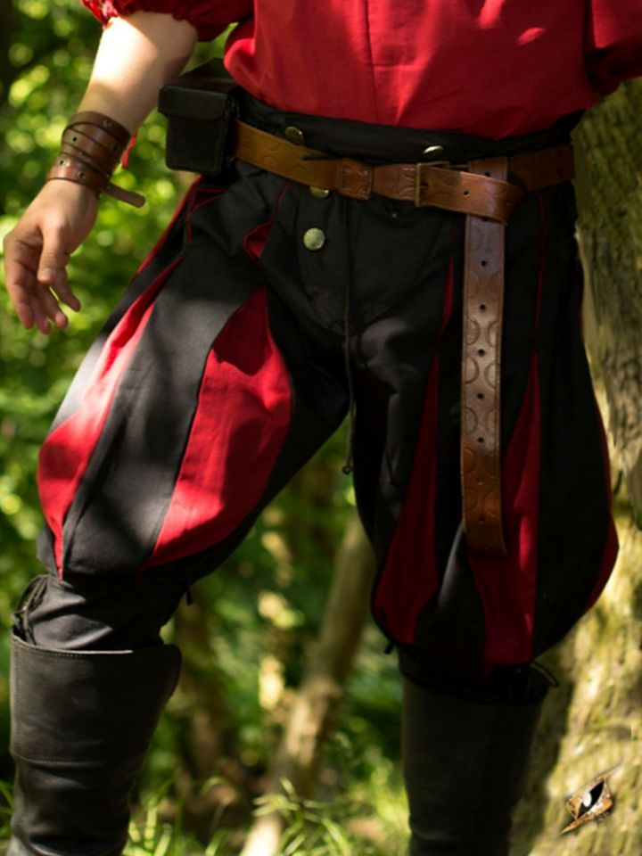 Pantalon Lansquenet noir/rouge M