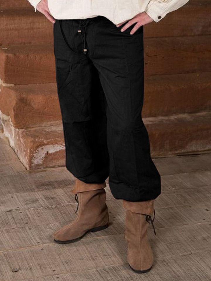 Pantalon médiéval en noir XXXL