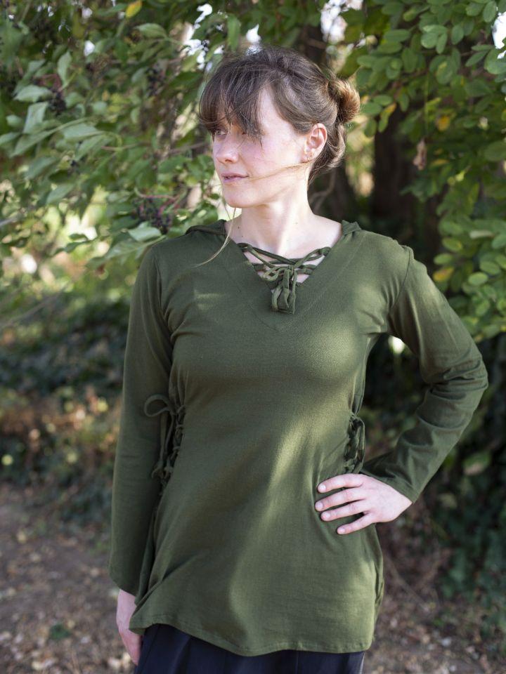 Blouse elfique en vert