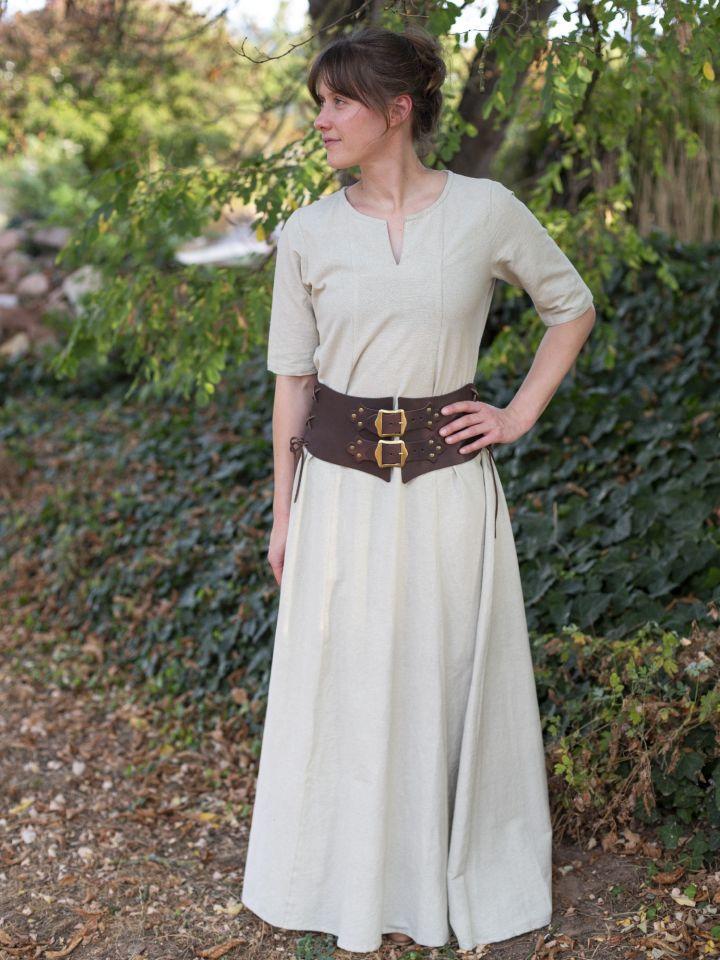 Sous-robe à manches courtes chanvre