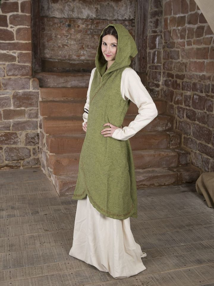 Robe portefeuille Dala en vert S/M