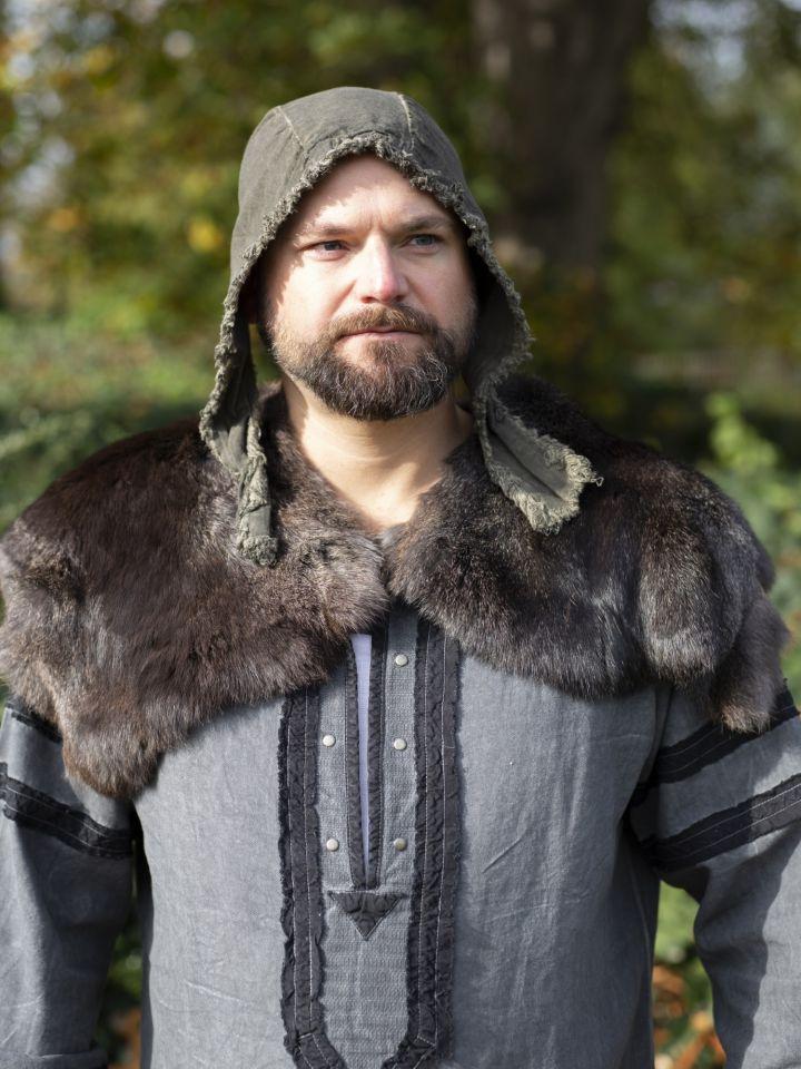 Capelet médiéval en fourrure Alaska