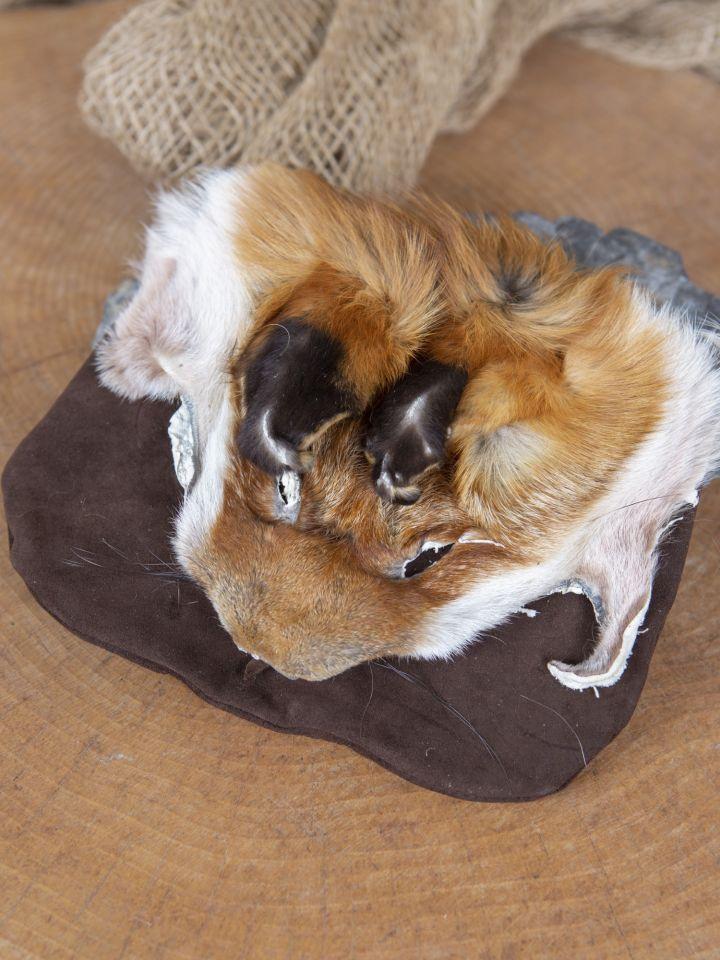 Sacoche de ceinture tête de renard, en brun