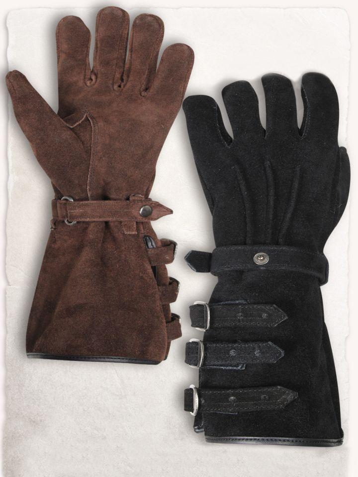 Paire de gants en daim M | marron