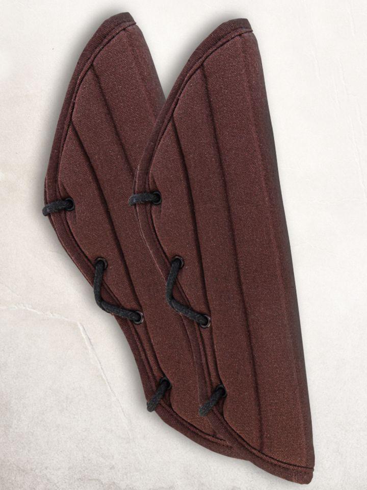 Gambisons d'avant-bras en noir ou marron marron