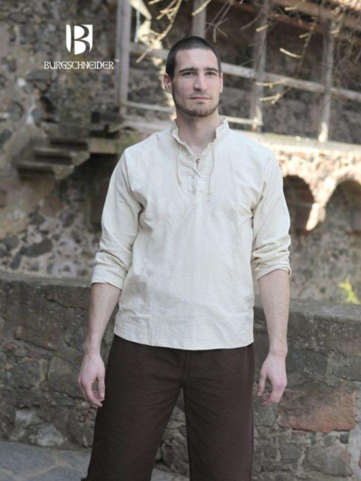 Chemise médiévale Tristan en écru XL