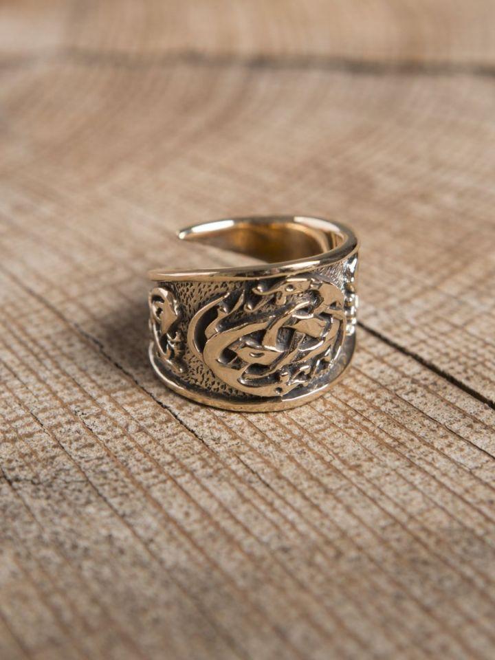Anneau celtique en bronze petit