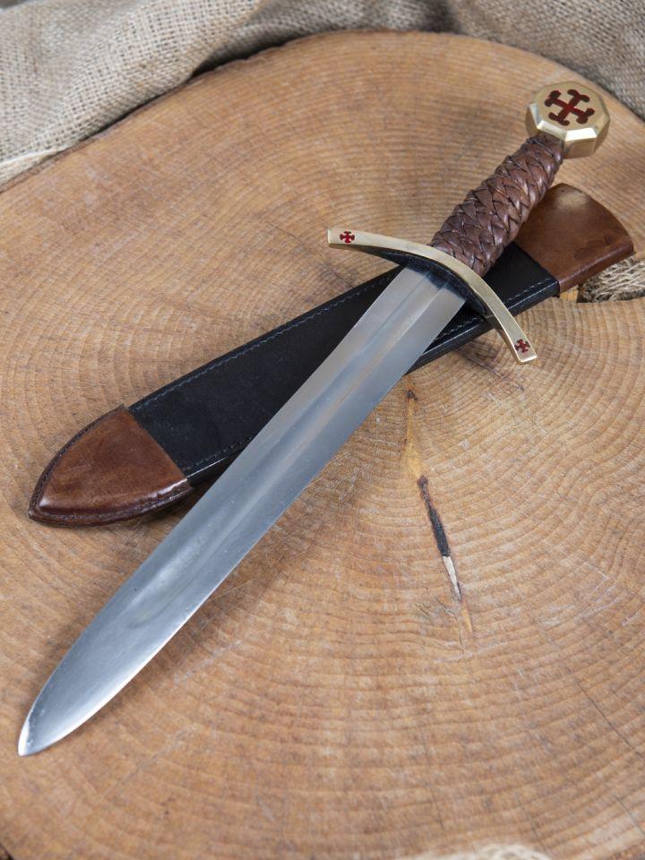 Dague des Templiers avec étui en cuir