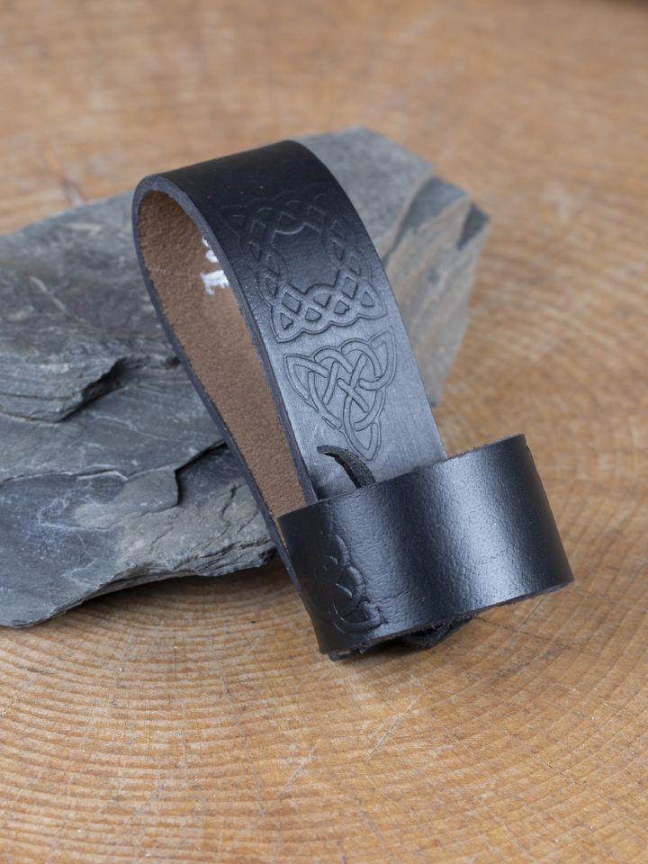 Porte-corne, motifs celtiques, noir