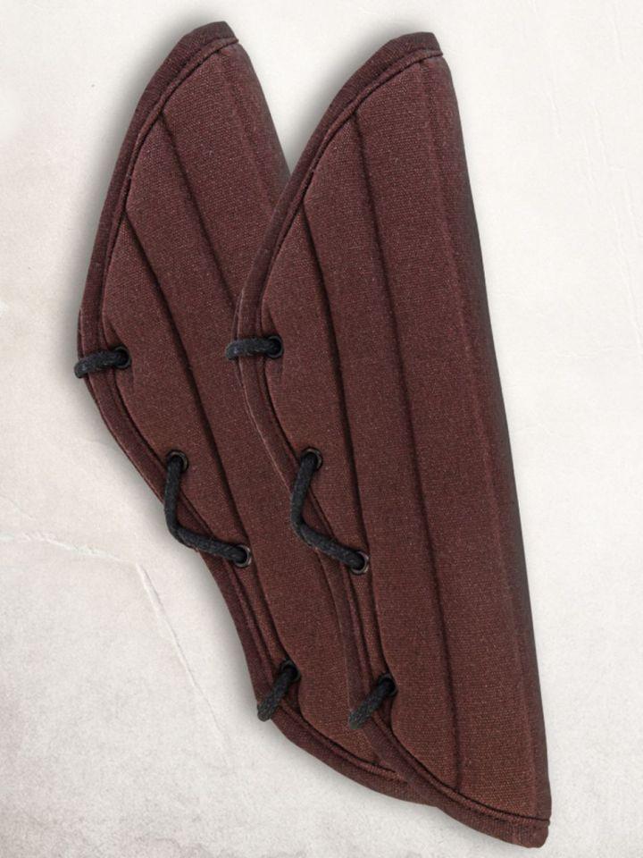 Gambisons d'avant-bras en noir ou marron noir