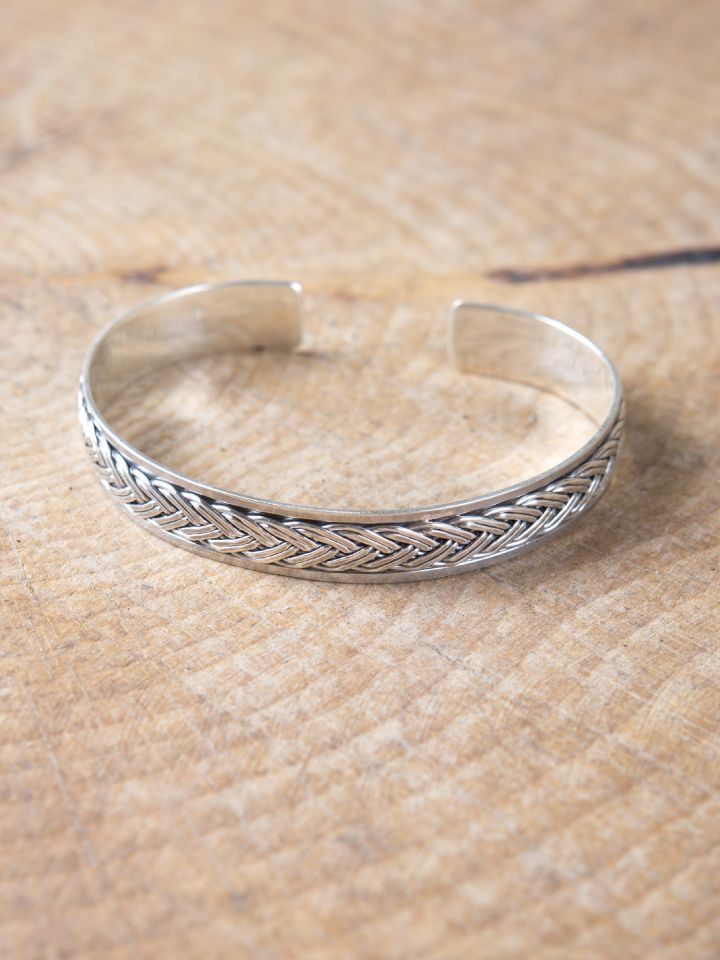 Bracelet motif Viking en argent