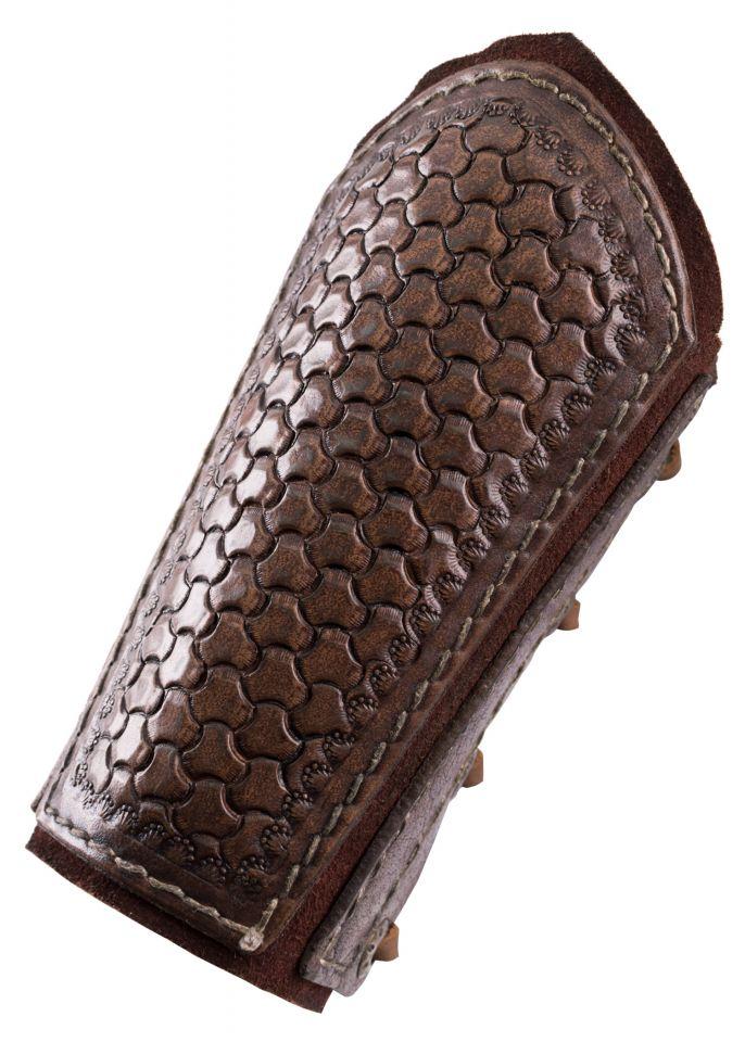 Protège-bras en cuir gaufré