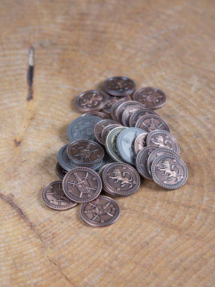 Pièces de monnaie GN Roi avec pochette en cuir