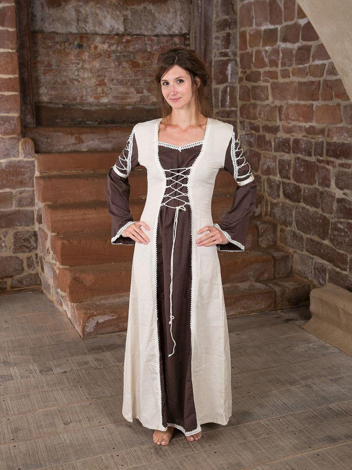 Robe médiévale Martha marron