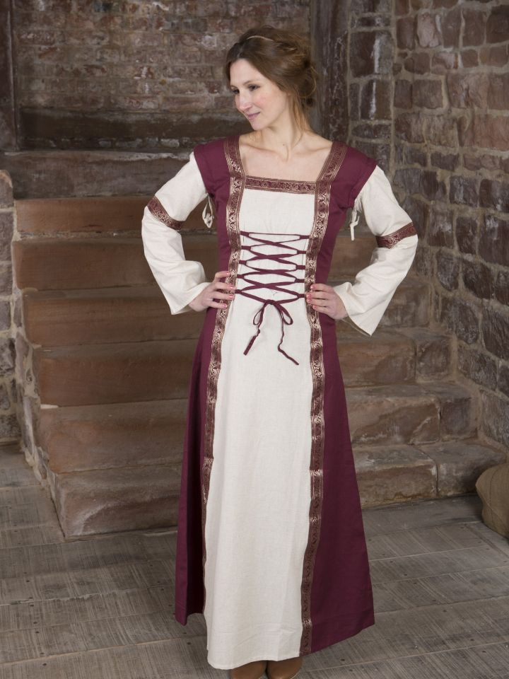 Robe médiévale à manches amovibles