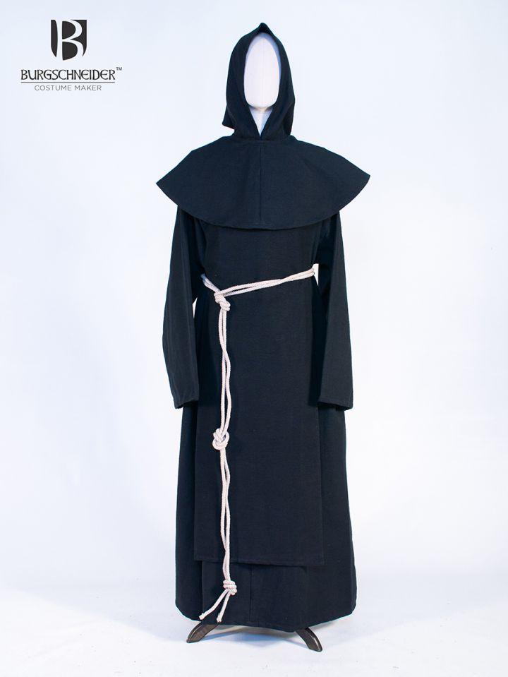 Habit de moine bénédictin en noir