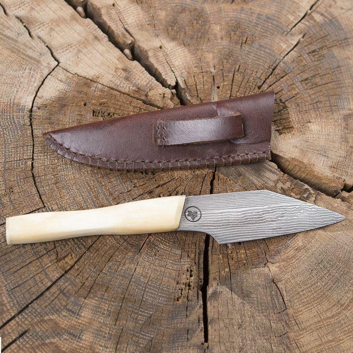 Couteau Viking à lame damassée