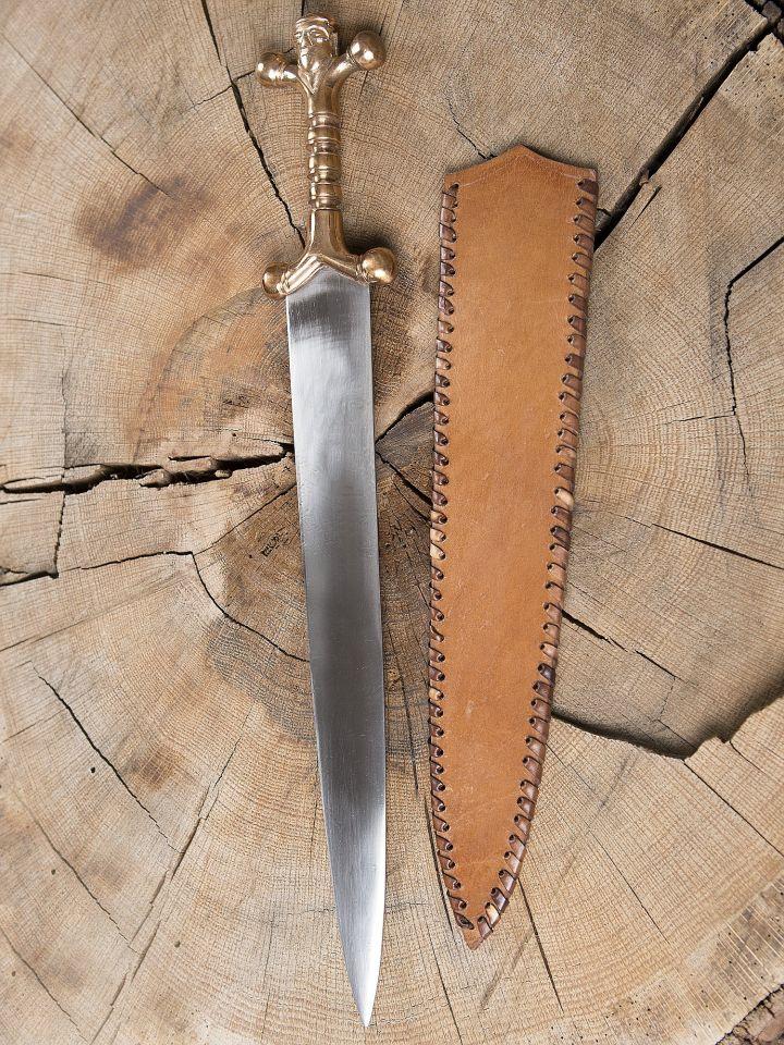 Dague celtique avec poignée en bronze