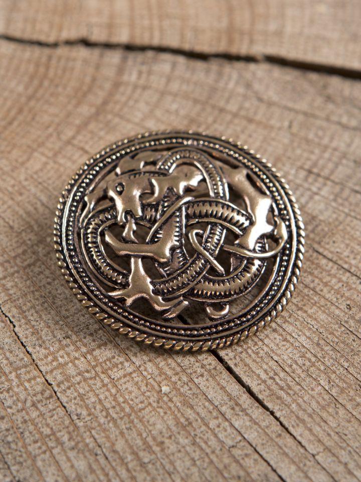 Broche viking dragon cracheur de feu