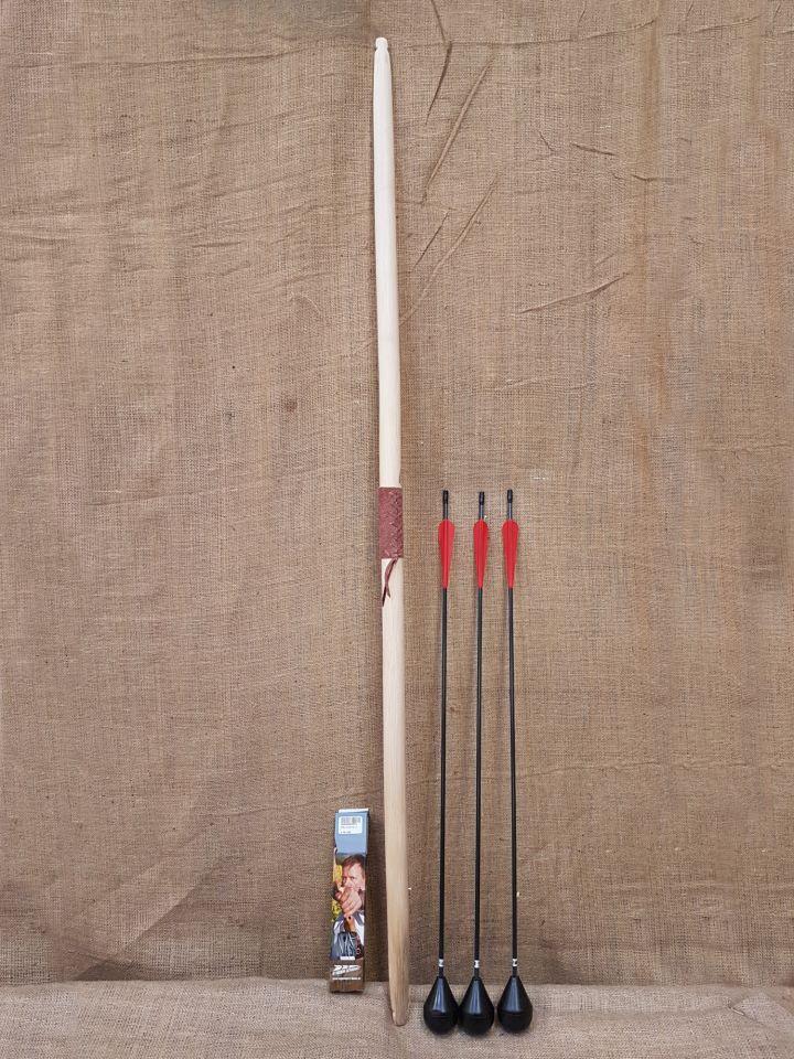 Ensemble Arc Longbow 60'' et trois flèches