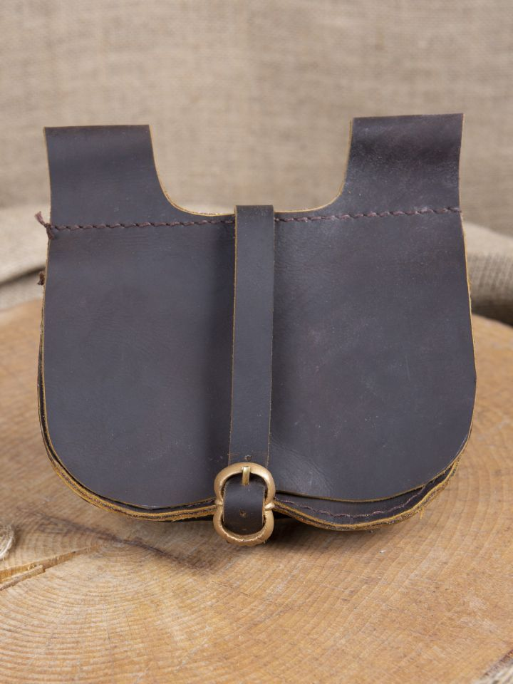 Sacoche de ceinture en marron