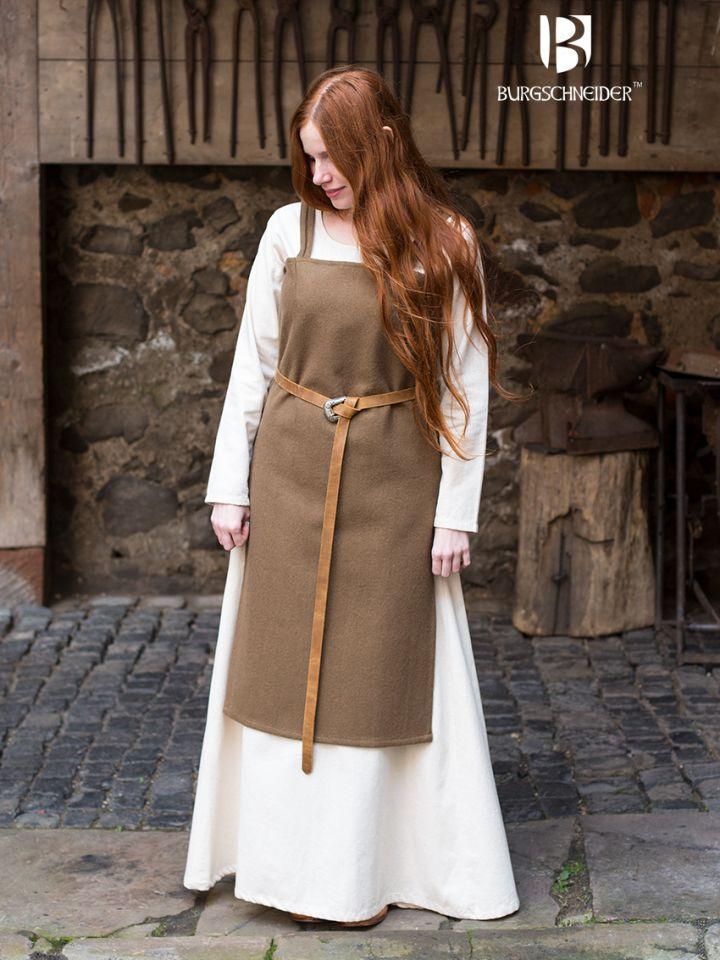 Robe viking Jodis en vert sous-bois M