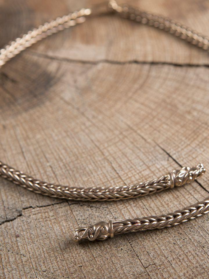 Collier Viking mailles tressées, 65 cm