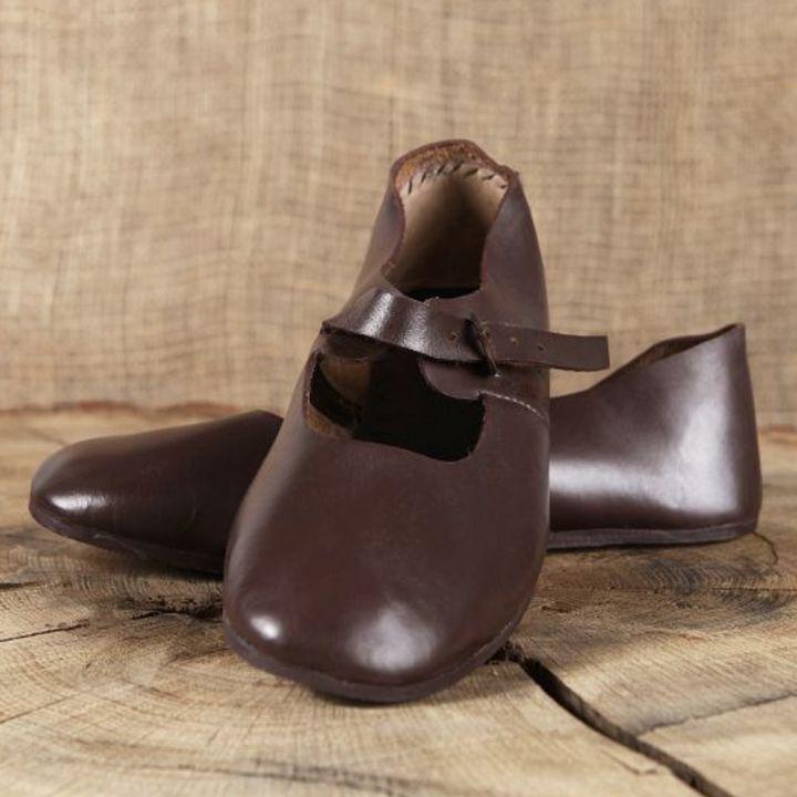 Chaussures médiévales en cuir