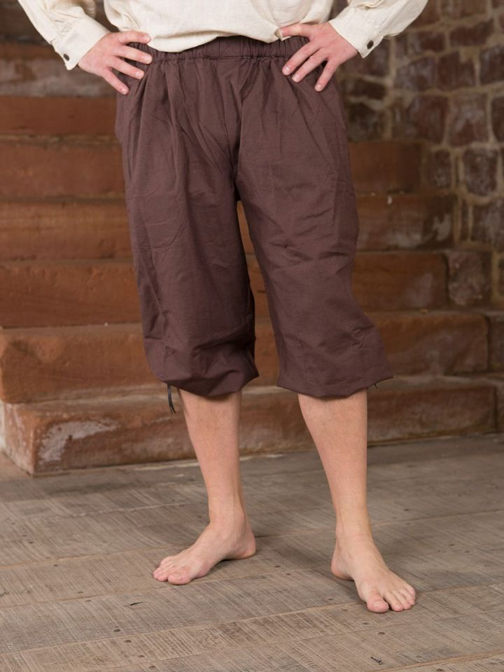 Pantalon médiéval court brun foncé L