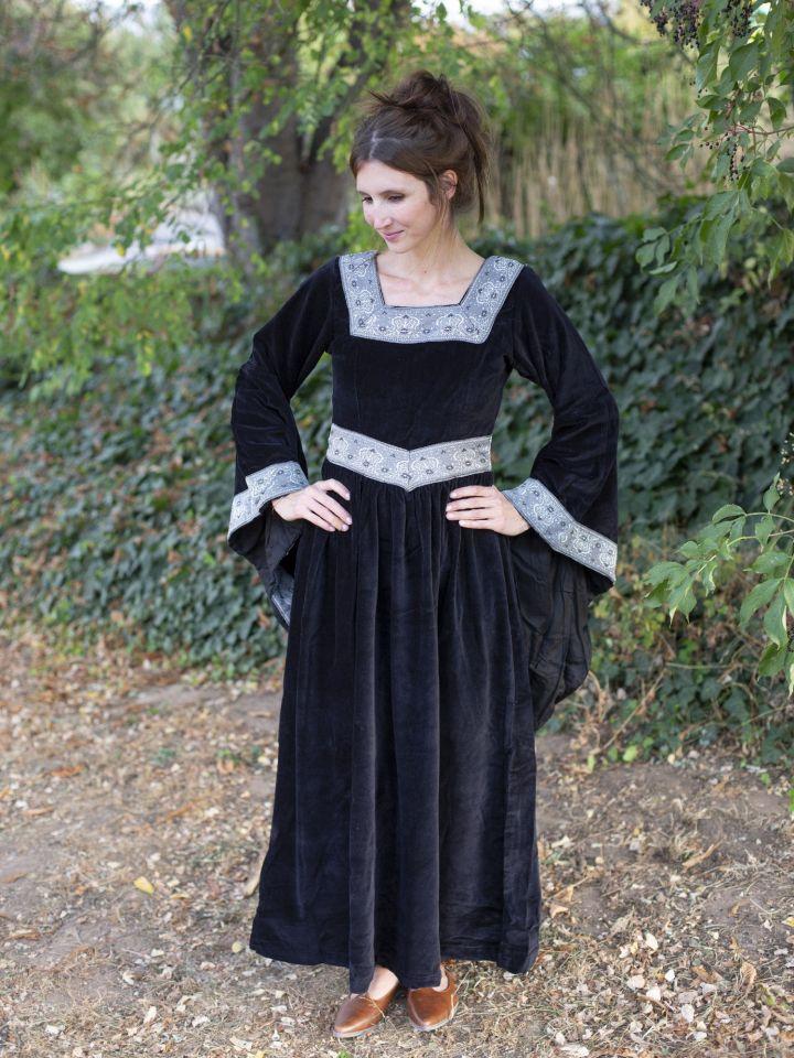 Robe médiévale Bourgogne, en noir